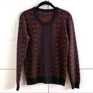 Rag & Bone Metallic Knit Crewneck Pullover Sweater